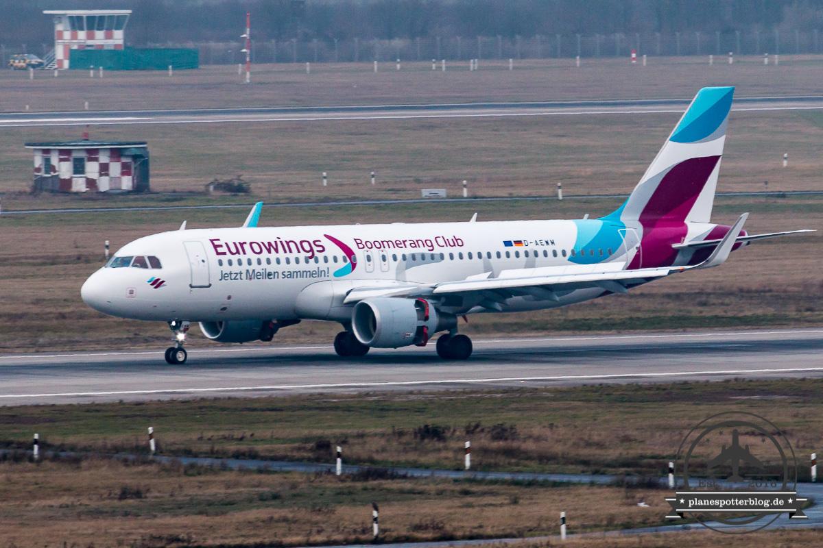 DUS Eurowings A320-200SL D-AEWM Boomerang Club cs